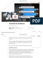 Chat-bots for Healthcare