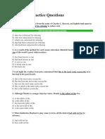 Grammar Practice Questions