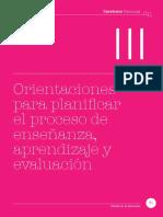 Orientaciones de planificación curricular 2018