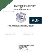 (Farukh)International training report hotel management