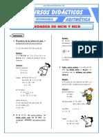 Propiedades Del MCM y MCD Para Tercero de Secundaria