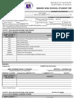 shs blank form 137