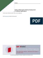 Design Analysis and Testing of Monopole Antenna De