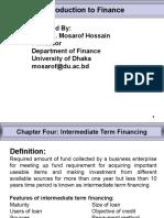 Chapter - 4 Intermediate Term Financing