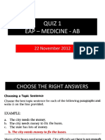 QUIZ 1-EAP -Med-AB With Answers