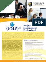 Project Management Professional (PMP) Course - Cambridge Education UAE.pdf
