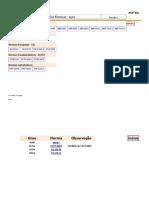Tabela de Aços e Normas