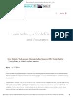 ACCA P7 Exam Technique- Ethics