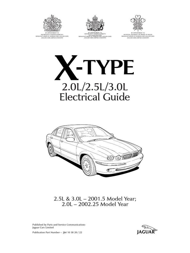 jaguar x-type 2001 2.0l/2.5l/3.0l electrical guide | throttle | computer  network  scribd