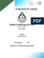 SensoresTemperatura LM35-DHT11