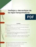 ventajas y desventajas de fajas transportadoras