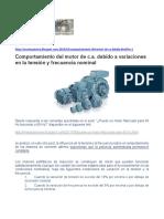 Granero-Comportamiento Del Motor de c.a. Debido a Variaciones en La Tensión y Frecuencia Nominal