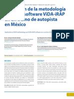 Aplicación de La Metodología IRAP y El Software VIDA IRAp en Un Tramo Carretera en México