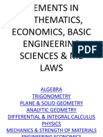 Elements in Mathematics, Economics, Basic Engineering (1)