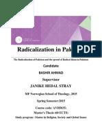 Radicalisation in pak