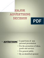 Major Advertising Decision