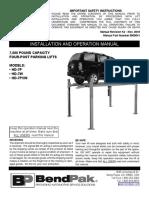 HD 7 Four Post Lift Manual 5900041 BendPak