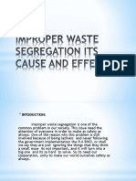 Improper Waste Segregation Its Cause and Effects