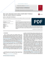 Does More Education Lead to Better Health Habits Evidence From the School Reforms in Australia