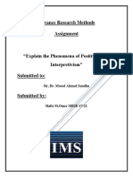 positivism vs interpretivism