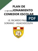 PLAN DE COMEDOR