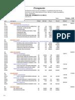 04.01.01 Presupuesto Infraestructura Vial Pavimento Flexible