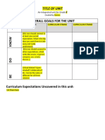 Optional Template for Unit Plan