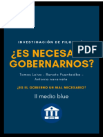 filosofia y gobierno (modernidad )