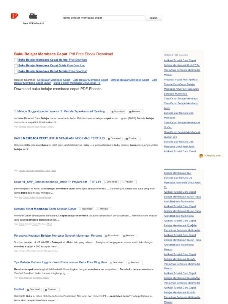 Search Pdf Bookscom Buku Belajar Membaca Cepat Pdf