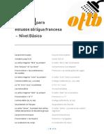 Roteiro de Estudos de Frances