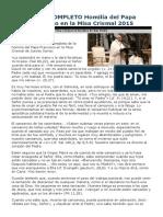 Homilía del Papa Francisco en la Misa Crismal 2015.docx