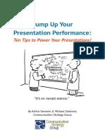 Pump Up Your Presentation Performance