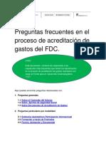 Preguntas Frecuentes Acreditacion Gastos FDC2018