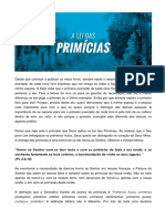 A Lei Das Primicias