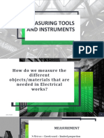 Measuring Tools and Instruments