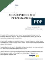 REINSCRIPCIONES 2019