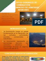 Conceptos Generales de Iluminación Flujo Luminosos de Lámparas Interiores