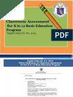 Classroom assessment