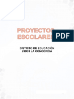 Formato de Proyectos escolares