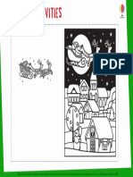 Christmas Card to Colour Magic Painting Christmas Cards