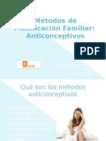 Método de planificación familiar, anticoncetivos