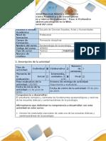 Guía de Actividades y Rúbrica de Evaluación - Paso 4 - Profundizo Saberes Psicológicos en La Web.