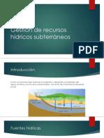 1. Gestión de recursos hídricos subterráneos