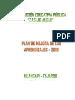 Plan de Mejora Ba 2019