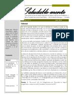 Boletín de la mesa de salud mental. Vol2. N° 7. Universidad de Antioquia