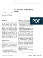 A Typology of the Theories of the Roles of Governing Boards - Hung