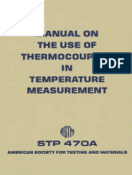 STP 470A - 1974 (1981) Manual on the Use of Thermocouples Temperature Measurement.pdf