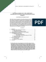 Australia Corporate Governance System - Dignam