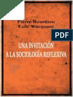 Bourdieu y Wacquant . Una Invitacion a La Sociologia Reflexiva Pp- 301-350