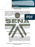 Recomendaciones Sena Virtual